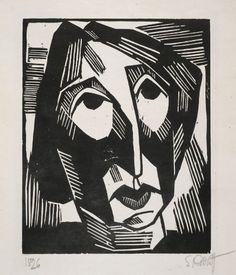 Karl Schmidt-Rottluff, Portrait of R.S. (Rosa Schapire), 1915, Harvard Art Museums/Busch-Reisinger Museum.