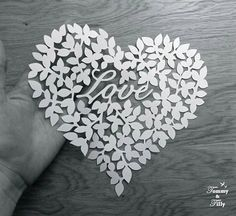 TEMPLATE 'Love Heart' Papercutting Design by TommyandTillyDesign