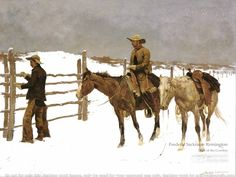 American West Paintings | Frederic Sackrider Remington Wallpapers