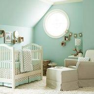 mint green walls, chocolate brown furniture.  PERFECT.