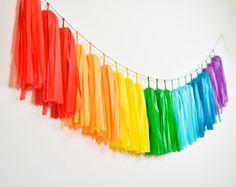 Rainbow Tassel Garland, Rainbow Birthday Party, Rainbow Nursery, Gay Wedding, Rainbow Baby Shower, Rainbow Cake Smash, Rainbow Pride Party by GenWoo on Etsy https://www.etsy.com/listing/211077692/rainbow-tassel-garland-rainbow-birthday
