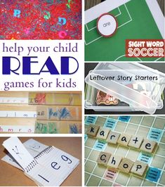 Reading Games- Scrabble( or bananagrams) letters. Put them in a tub, have kids draw out set number( ie, 3) and build words. Also, phonics flip chart.