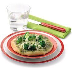 Mini pizzas con albahaca y brécol
