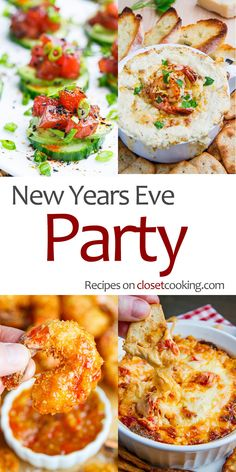 New Years Eve Party Recipes The best recipes for an amazing New Years Eve party! New Years Eve Party Recipes The best recipes for an amazing New Years Eve party! New Years Eve Snacks, New Years Eve Menu, New Year's Snacks, New Years Eve Party Ideas Food, New Years Eve Day, New Year's Eve Appetizers, New Years Eve Dinner, Snacks Für Party, Appetizer Recipes