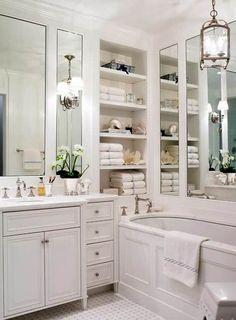 Классическая система хранения вещей в ванной комнате
