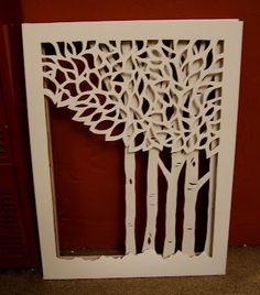 Nine Red: Triple Layer Cut Canvas    I am so going to do this! <3