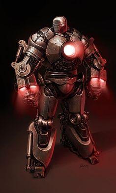 Iron Man concept art by Ryan Meinerding Marvel Comics, Marvel Vs, Marvel Heroes, Comic Book Characters, Marvel Characters, Comic Character, Comic Books Art, Marvel Villains, Iron Man 2008