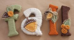 wanna make these and string them as a door banner - Repeat Crafter Me: Yarn Wrapped Letters for Fall