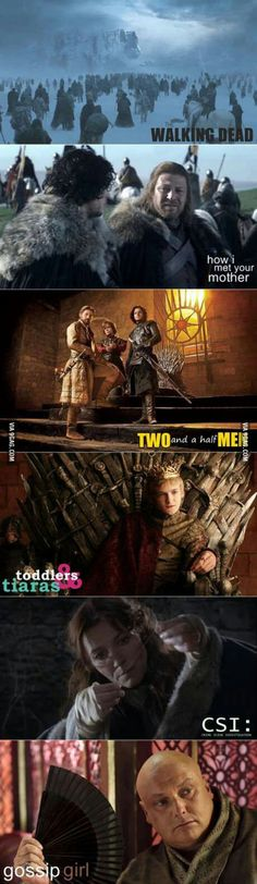 Game of thrones vs. tv shows