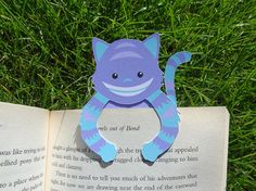 Bookmark buddy  Cheshire Cat by bethydesigns on Etsy, £2.00