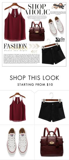 """SheIn"" by aurora-australis ❤ liked on Polyvore featuring Mode, Converse, Mulberry und Sheinside"