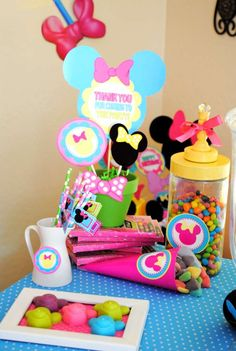 Krown Kreations & Celebrations 's Birthday / Minnie Mouse - Photo Gallery at Catch My Party Minnie Mouse First Birthday, Mickey Mouse Clubhouse, Minnie Mouse Party, Mouse Parties, 2nd Birthday Parties, Baby Birthday, Birthday Ideas, Minnie Boutique, Bow