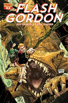 Wrier Jeff Parker, artist Evan Doc Shaner and colorist Jordie Bellaire will team for 'Flash Gordon' in April from Dynamite. Comic Book Pages, Comic Book Covers, Comic Books, The Man From Earth, Flash Gordon Comic, Science Fiction, Space Hero, Space Age, American Comics