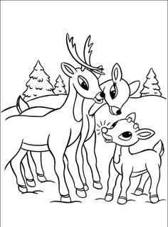Clarice Reindeer Coloring Pages Rudolph Rudolph and Clarice