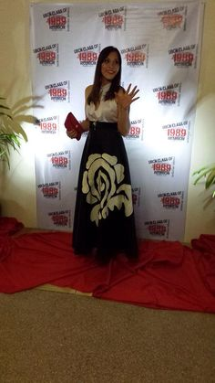 Hand paint victorian inspired gown.