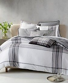 Hotel Collection Linen Plaid Bedding Collection, Created for Macy's Best Bedding Sets, Queen Bedding Sets, Luxury Bedding Sets, Modern Bedding, Plaid Bedding, Linen Bedding, Bed Linens, Comforter, Bedding Shop