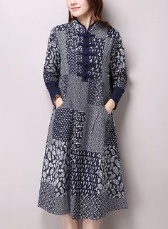 Shop Floryday for affordable Dresses. Floryday offers latest ladies' Dresses collections to fit every occasion. Vestidos Vintage, Vintage Dresses, Batik Fashion, Abaya Fashion, Fashion Outfits, Simple Kurti Designs, Kurta Designs Women, Abaya Style, Costura Plus Size