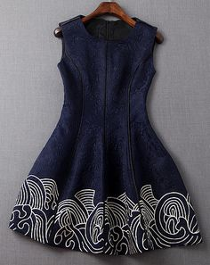 Embroidered Dress in Navy Blue – Lily & Co. Very Short Dress, Girls Dresses, Short Sleeve Dresses, Summer Dresses, Blue Ball Gowns, Embroidery Fashion, Handmade Dresses, Western Dresses, Lovely Dresses