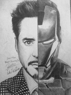 Cool Art Drawings, Pencil Art Drawings, Disney Drawings, Drawing Sketches, Realistic Drawings, Drawing Ideas, Sketching, Iron Man Avengers, Avengers Art
