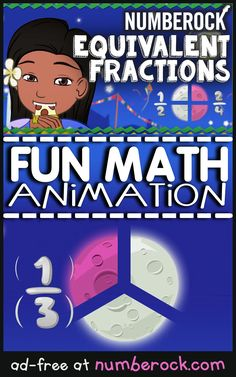 Equivalent Fractions Song & Activities For & Grade. Learn all about fraction equivalence without the boring. 4th Grade Fractions, Equivalent Fractions, Third Grade Math, Fourth Grade, Math Songs, Fun Songs, Math For Kids, Fun Math, Math Help