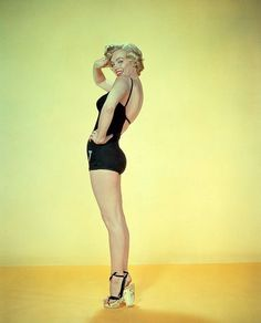 """Marilyn Monroe, publicity photo for """"Monkey Business"""", 1952."""