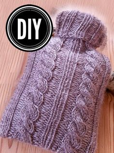 Amalie loves Denmark: DIY: knitting instructions for hot water bottle knitting Knitting - Knitting and Crochet Knitted Baby Blankets, Knitted Hats, Wool Blanket, Crochet Baby, Knit Crochet, Textiles, Lace Knitting, Knit Patterns, Knitting Projects
