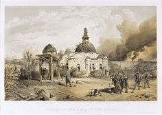 'Church in the Rear of the Redan', by William Simpson, 1854 (lithograph). William Simpson (1823-99) was a Scottish painter who became noted for his depictions of the Crimean War (1853-6):