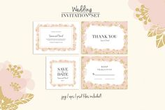 Wedding Invitation Template by stockhype on Creative Market