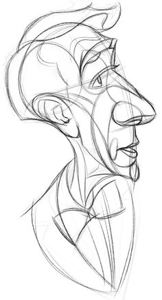 final abstraction bill nye caricature sketch