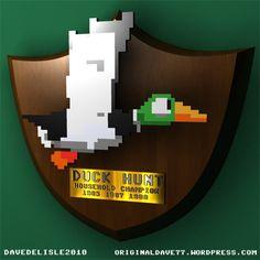 NES Nintendo Duck Hunt Award Trophy PLaque Achievement