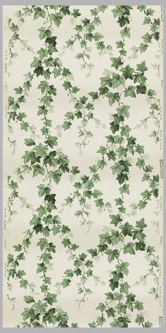 Vintage Cooper Hewitt Wallpaper via Suzanne Lipschutz