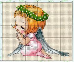 7 das Artes: Anjos em ponto cruz: arte com linhas!