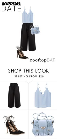 """""""Blue's time"""" by sandra-sivache ❤ liked on Polyvore featuring Edit, MANGO, Gianvito Rossi, Ella Rabener, summerdate and rooftopbar"""
