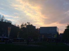 Sundown at Schlossplatz