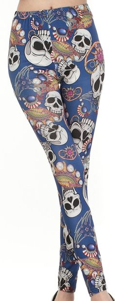 Amazon.com : Womens Pirate Skull Jewelry Leggings Soft Pants Free Size Punk Gothic Tights Christmas Gifts : Everything Else