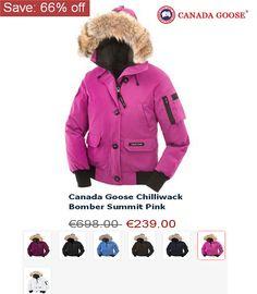promo code 4d502 92788 Canada Goose Chilliwack Bomber Summit Pink Women s