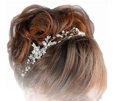 Flower Belt, Bridal Hair Vine, Pearl Hair, Headpieces, Vines, Wedding Hairstyles, Glamour, Weddings, Bride