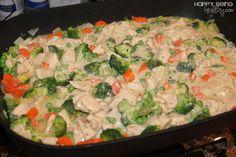Tejszínes sajtos csirke ízletes zöldségekkel, fenséges étel villámgyorsan!