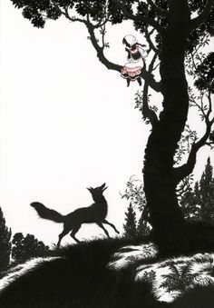 "A fox came by and asked: ""Why are you weeping, Snow White?""; Snow White and the Fox - Myths and Legends of Russia by Aleksandr Afana'ev, 2009"