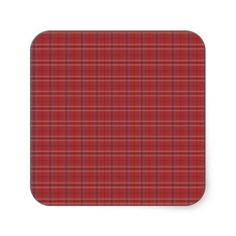 Plaid Print Stickers