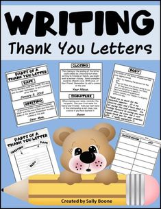 Writing Thank You Letters Teaching Sight Words, Teaching Writing, Thank You Letter, Thank You Notes, My Future Career, Thanks Words, Friendly Letter, Letter Form, Letter Writing