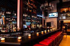 Bar Beauty #bar #nyc #resette #italian #cuisine #cocktails #happyhour #midtown #restaurant #delicious #yum #manhattan #black #red #chandelier #nice #interior #classy
