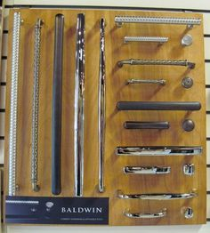 New Baldwin Cabinet Hardware Display Cabinet Hardware, Showroom, Display, Decoration, Ideas, House Decorations, Projects To Try, Floor Space, Decor