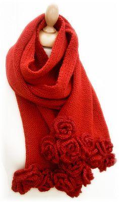 "Echarpe ""Roses"" - ""Roses"" scarf pattern by Pretty Tchouskaïa"