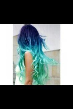 Mükemmel mint yeşili saçlar