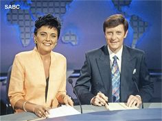 Mariette Kruger & Riaan Cruywagen, two of the best news anchors SABC has had Western Party Decorations, Western Parties, South African Air Force, State Of Grace, Famous Celebrities, Celebs, Tv Presenters, My Childhood Memories, African History