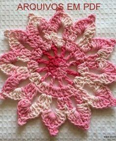 Flor para cortina - inteira