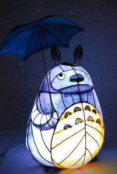 Totoro lamp, studio ghibli. I need this in my life too