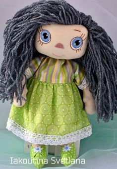 Handmade doll Unique baby gifts Personalized rag doll Green eyes First birthday girl gift Rag doll with hair Unique Baby Gifts, Personalized Baby Gifts, Girl First Birthday, Birthday Gifts For Girls, Cotton Decor, Dolls For Sale, Cotton Lace, Girl Gifts, Kids Playing