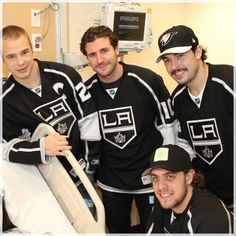 Dustin Brown, Mike Richards, Drew Doughty and Anze Kopitar (Los Angeles Kings)